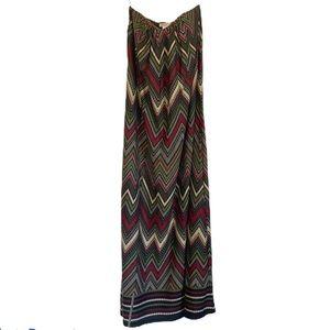 ARDEN B Strapless Maxi Chevron Dress Medium